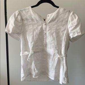 Club Monaco white short sleeve